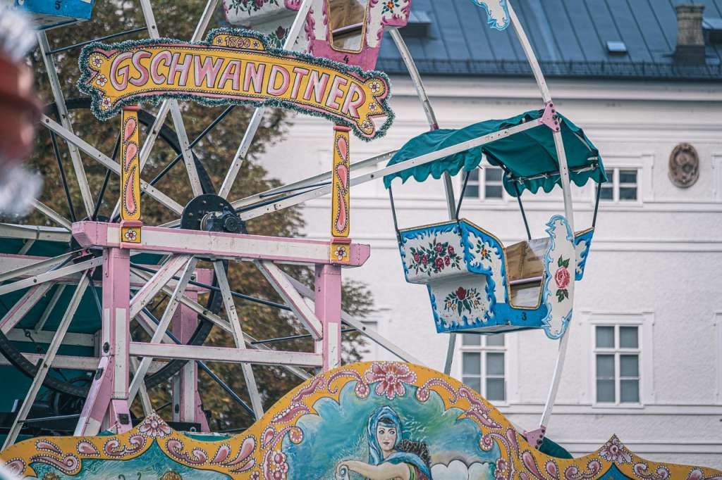 Traditional Theme Park Attractions at the Rupertikirtag Fair