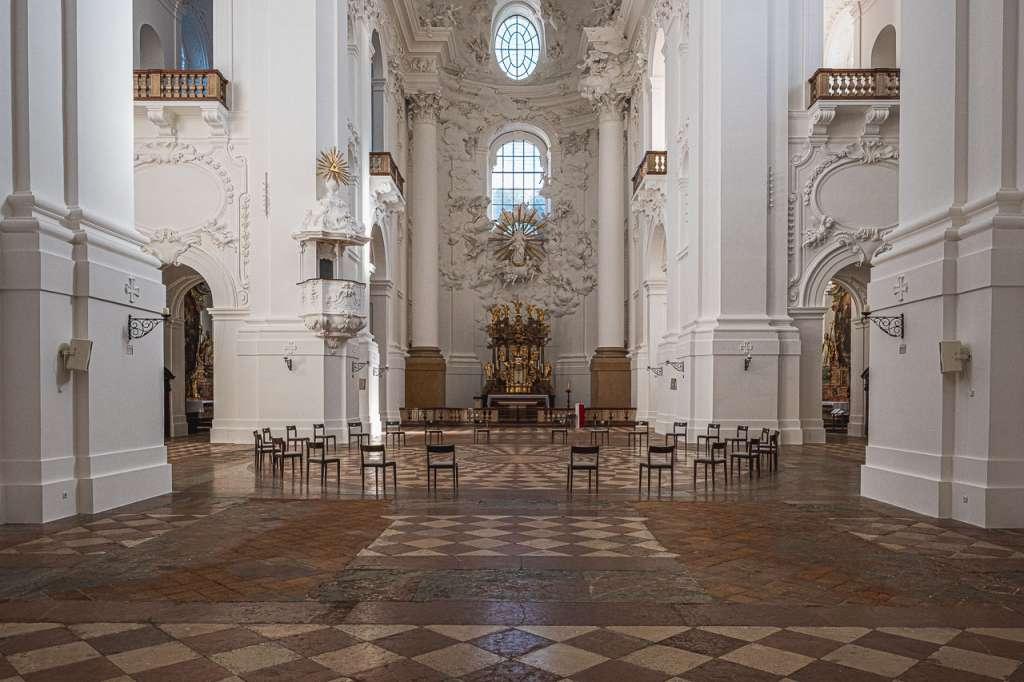 University Churchs Salzburg Baroque Church by Fischer von Erlach