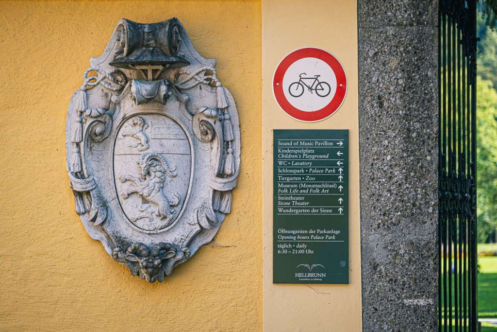 Entrance to Hellbrunnerpark