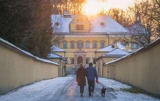 Hellbrunn Castle in Winter