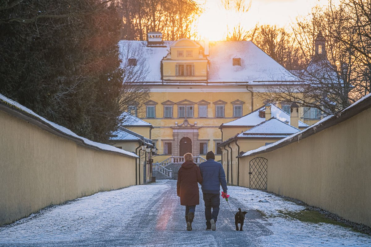 Hellbrunn Castle in Winter