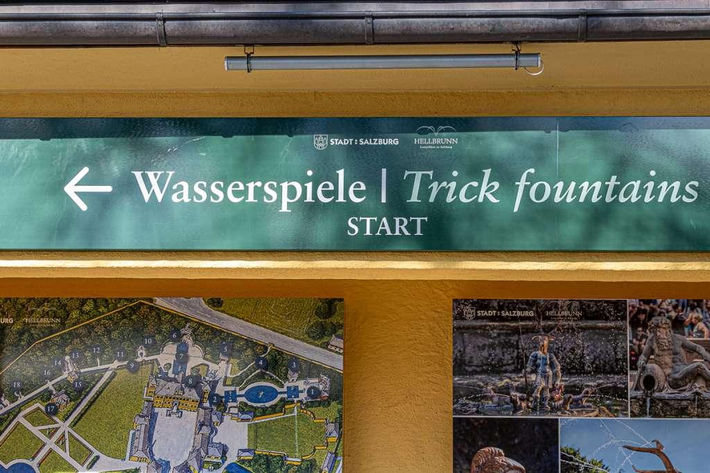 Hellbrunn Trick Fountains Wasserspiele tour