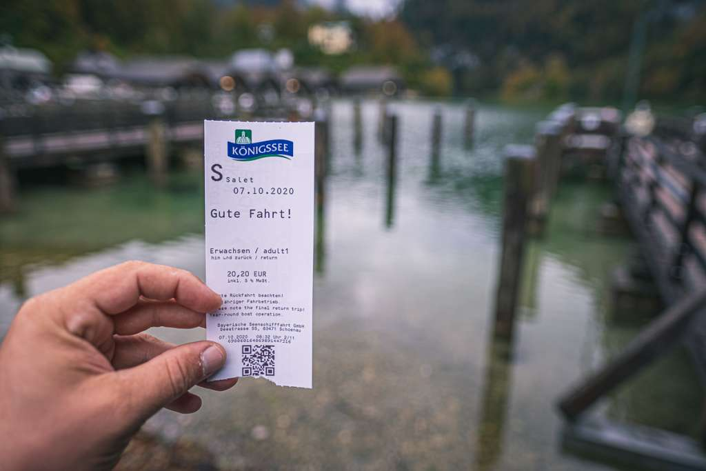 Ticket for the Boat on Königssee