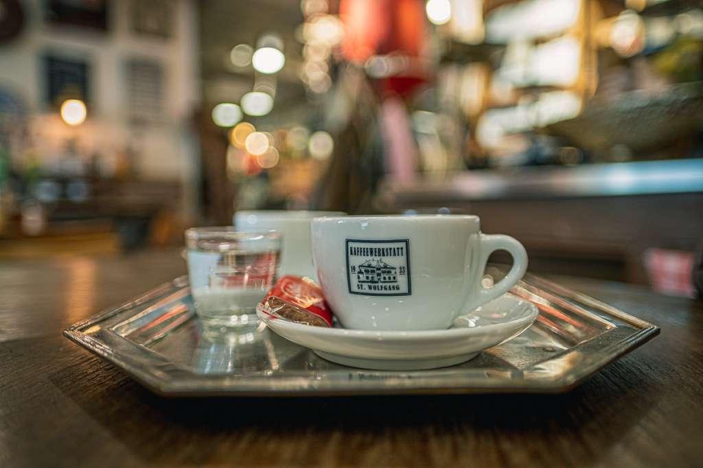 Coffee at Kaffeewerkstatt in St Wolfgang